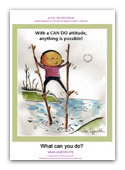 button to view full sized mini-poster - image of a boy walking across a stream on stilts